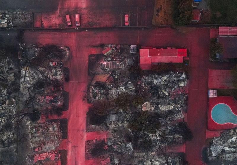 تصاویر هوایی از عمق فاجعه آتش سوزی در ایالت اورگن